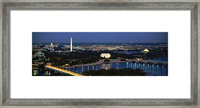 High Angle View Of A City, Washington Framed Print