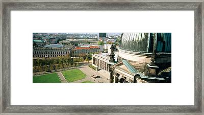 High Angle View Of A Formal Garden Framed Print by Panoramic Images