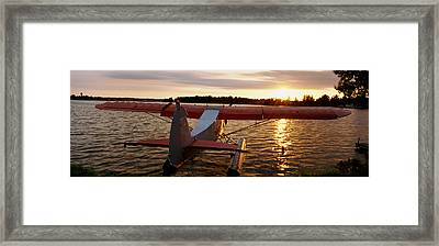 High Angle View Of A Sea Plane, Lake Framed Print by Panoramic Images