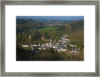 High Angle View Of Buildings In A Town Framed Print by Panoramic Images