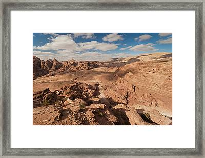 High Angle View Of Petra Valley Framed Print