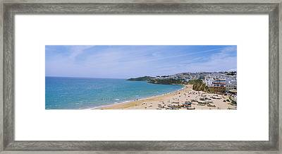 High Angle View Of The Beach Framed Print