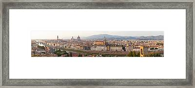 High Angle View Of The City Framed Print by Panoramic Images