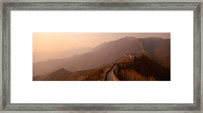 High Angle View Of The Great Wall Of Framed Print
