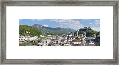 High Angle View Of The Old Town Framed Print by Panoramic Images