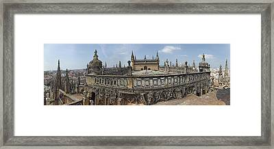 High Angle View Of The Seville Framed Print