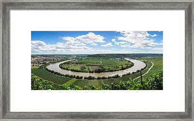 High Angle View Of Vineyards, Neckar Framed Print by Panoramic Images