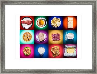 High Cholesterol Food Framed Print