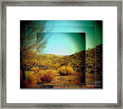 High Desert Framed Print by Bobbee Rickard
