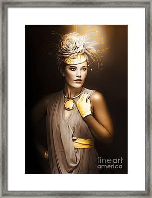 High Fashion Model Framed Print