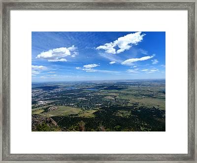 High Over Boulder Colorado Framed Print