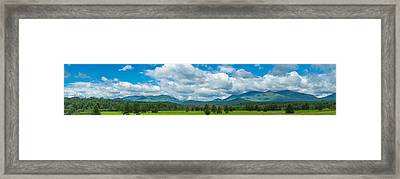 High Peaks Area Of The Adirondack Framed Print by Panoramic Images