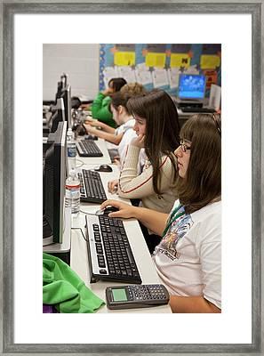 High School Media Centre Framed Print