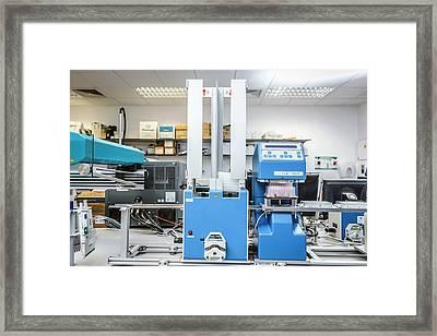 High-throughput Screening Machine Framed Print by Gustoimages