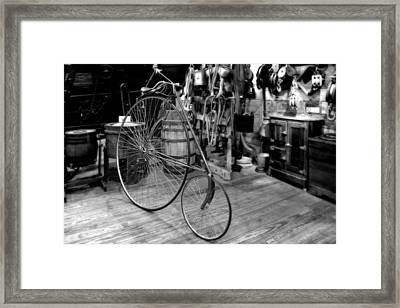 High Wheel 'penny-farthing' Bike Framed Print