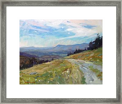 Highland Valley View  Framed Print