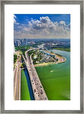 Highway Framed Print by Mario Legaspi