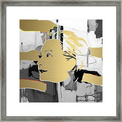 Hillary Clinton Gold Series Framed Print by Marvin Blaine