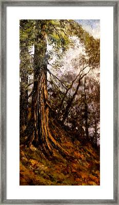 Hillside Ancient Framed Print
