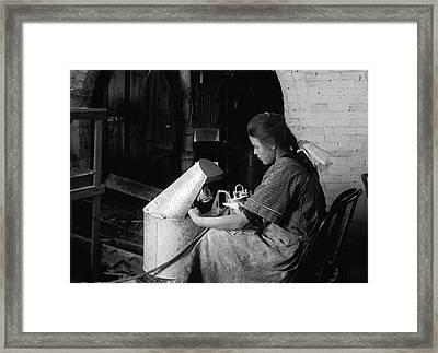 Hine Flower Factory, 1917 Framed Print