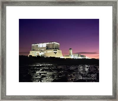 Hinkley Point Nuclear Power Station Framed Print by Martin Bond