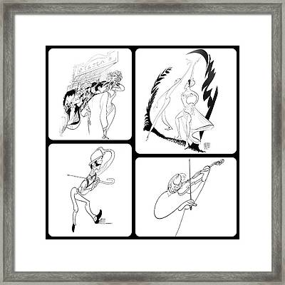 Hirschfeld's Drawings Framed Print