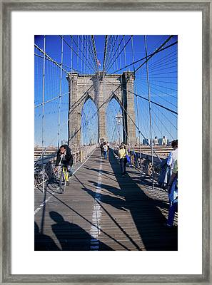 Historic Brooklyn Bridge, New York Framed Print