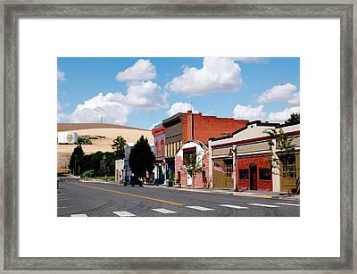 Historic Buildings Along Main Street Framed Print by Nik Wheeler
