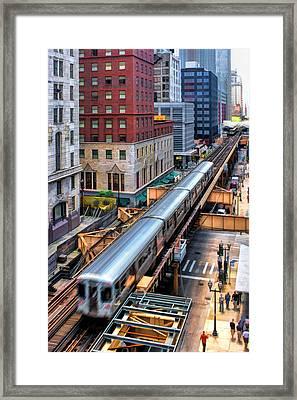 Historic Chicago El Train Framed Print by Christopher Arndt