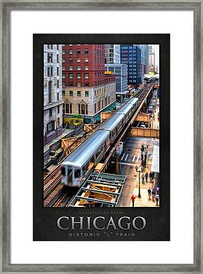 Historic Chicago El Train Poster Framed Print