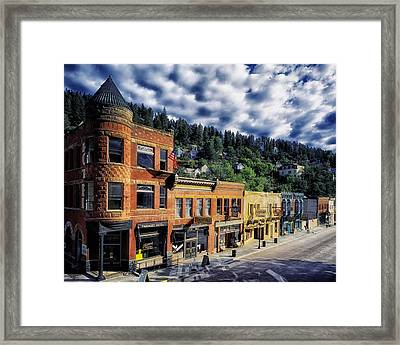 Historic Deadwood Framed Print by Mountain Dreams