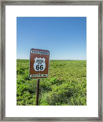 Historic Old Route 66 Passed Framed Print