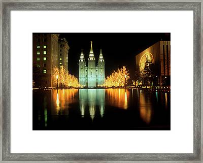Historic Temple And Square In Salt Lake Framed Print