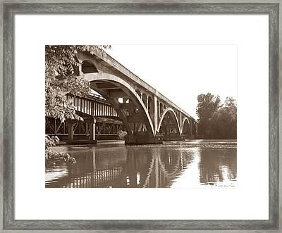 Historic Wil-cox Bridge Framed Print by Matt Taylor