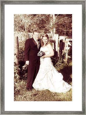 Historical Australian Wedding Couple Framed Print by Jorgo Photography - Wall Art Gallery