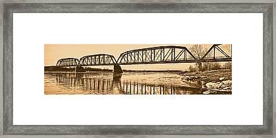 Historical Kinsey Bridge Framed Print by Leland D Howard