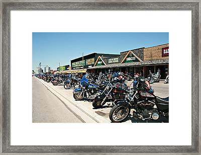 Hitchin' Post Framed Print