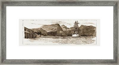 H.m.s. Comus At Burrard Inlet, The Present Terminus Framed Print