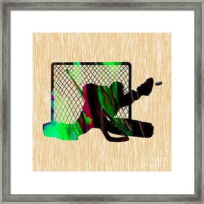 Hockey Goalie Framed Print by Marvin Blaine