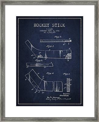 Hockey Stick Patent Drawing From 1931 Framed Print