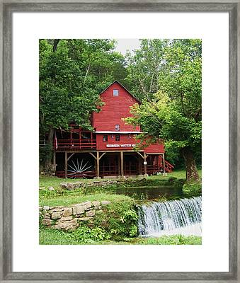 Framed Print featuring the photograph Hodgson Water Mill And Spring by Julie Clements