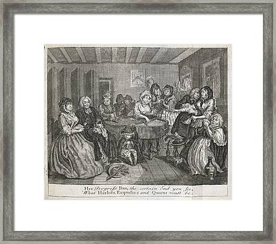 Hogarth On Venereal Disease Framed Print by British Library