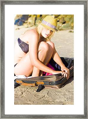 Holiday Stowaway  Framed Print by Jorgo Photography - Wall Art Gallery