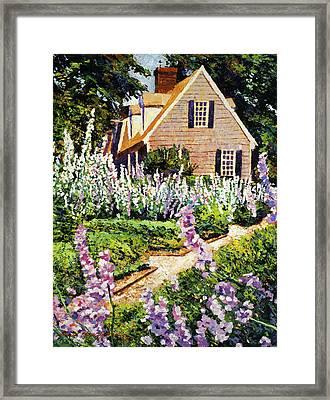 Hollyhock House Framed Print by David Lloyd Glover