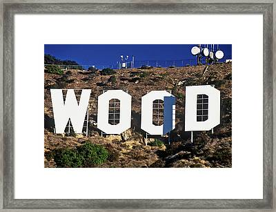 Hollywood Sign On The Hillsides Framed Print