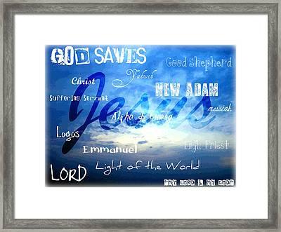 Holy Name Of Jesus Framed Print by Sharon Soberon