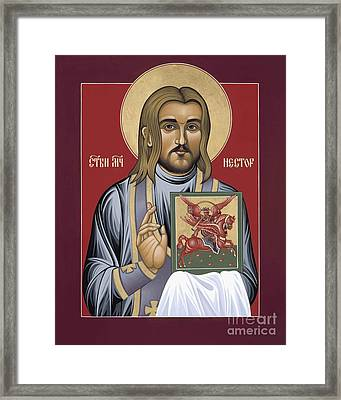 Framed Print featuring the painting Holy New Martyr Nestor Savchuk 069 by William Hart McNichols