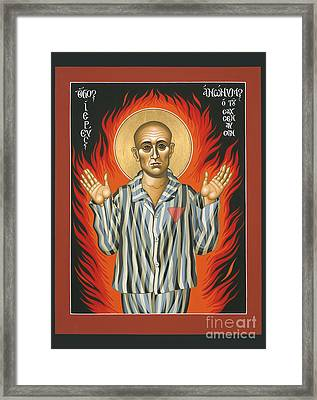 Holy Priest Anonymous One Of Sachsenhausen 013 Framed Print