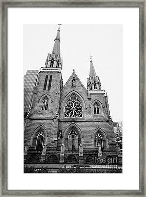 holy rosary cathedral headquarters of the roman catholic archdiocese of Vancouver BC Canada Framed Print