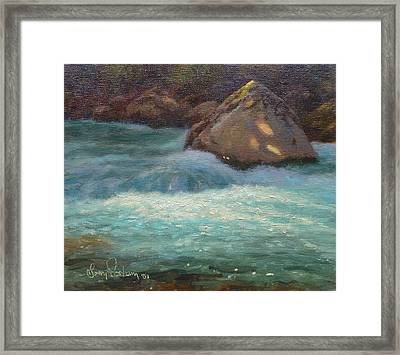 Holyford Water Framed Print by Terry Perham